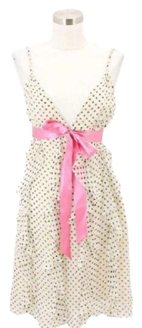 Preload https://img-static.tradesy.com/item/24347330/bcbgmaxazria-pink-white-a49-bcbg-max-azria-designer-small-s-sundress-polka-dot-pi-mid-length-formal-0-1-650-650.jpg
