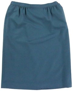Pendleton Wool Lined Teal Classic Skirt Blue