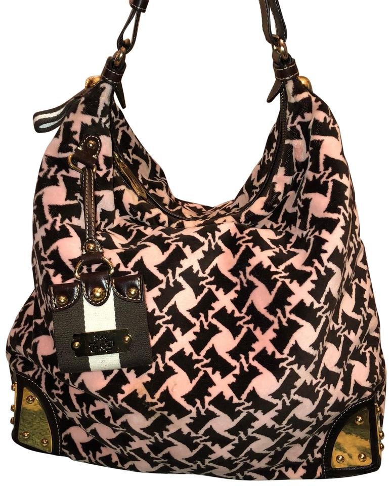 Juicy Couture Women s Gold Pink   Black Suede Leather Shoulder Bag ... 0920c179b2