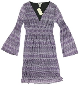 Vertigo Paris Bohemian Zigzag Date Night Party Elastic Dress