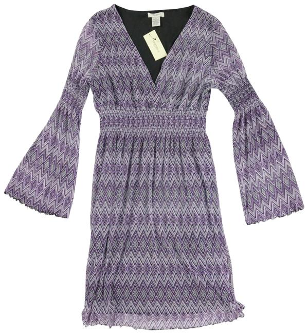 Preload https://img-static.tradesy.com/item/24347391/vertigo-paris-purple-zigzag-bohemian-rhapsody-with-shirred-waist-short-workoffice-dress-size-12-l-0-2-650-650.jpg