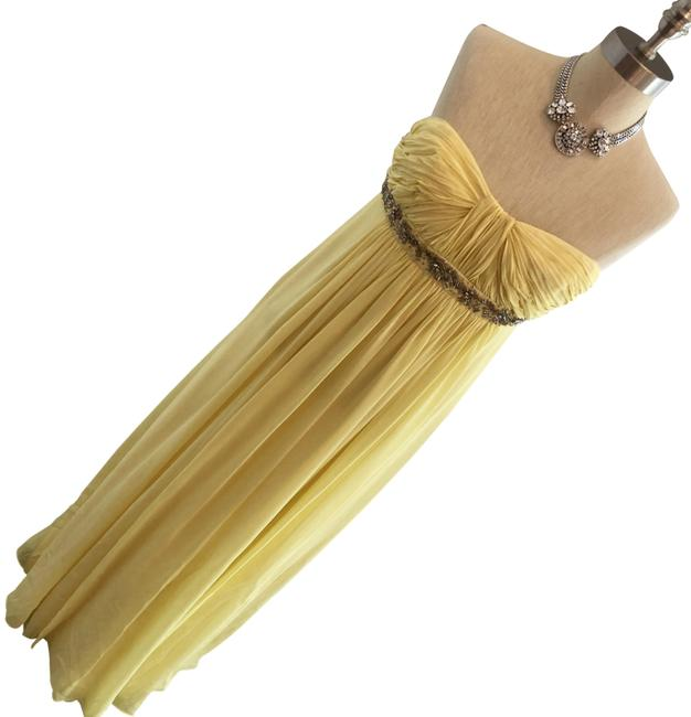 Preload https://img-static.tradesy.com/item/24347456/bcbgmaxazria-yellow-strapless-silk-gown-4p-long-formal-dress-size-petite-4-s-0-1-650-650.jpg