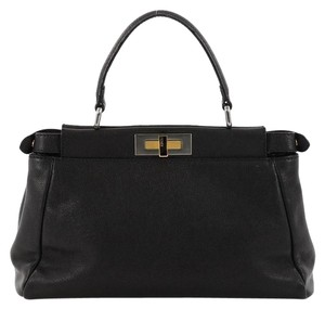 Fendi Handbag Leather Tote in black