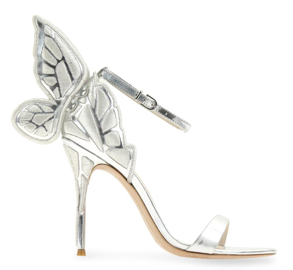a6ffc0dfeee Sophia Webster Silver Chiara Embroidery Sandals Size EU 36.5 (Approx ...