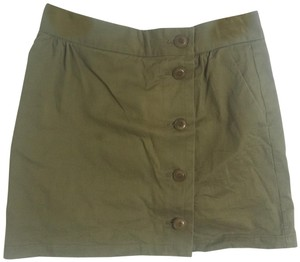 A.P.C. Denim Mini Mini Skirt Olive