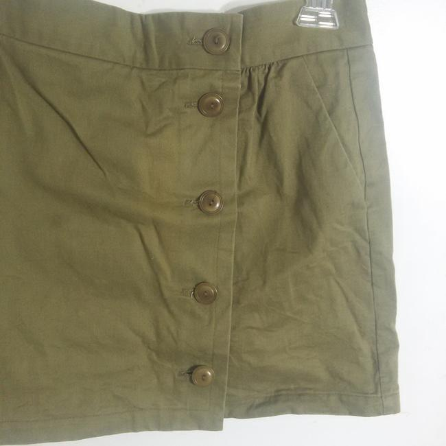 A.P.C. Denim Mini Mini Skirt Olive Image 5