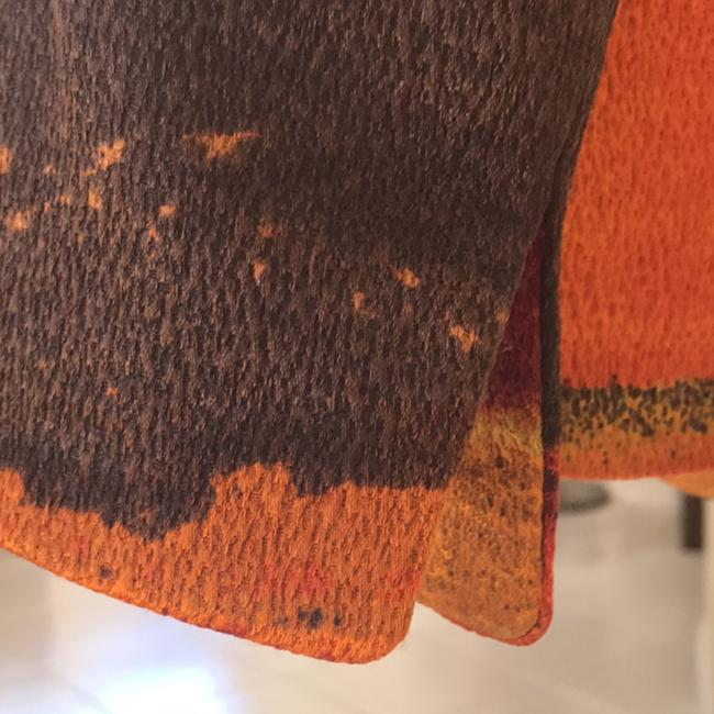 Ellen Tracy multi color earth tones - orange, gold, brown and reds Blazer Image 2