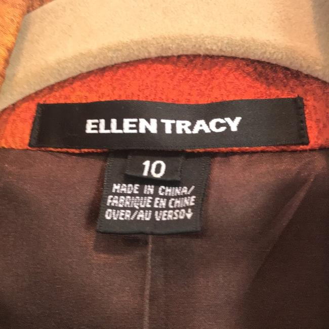 Ellen Tracy multi color earth tones - orange, gold, brown and reds Blazer Image 4