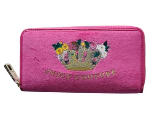 Juicy Couture Juicy Couture Spring Flowers Crown Velour Zip Wallet Purse