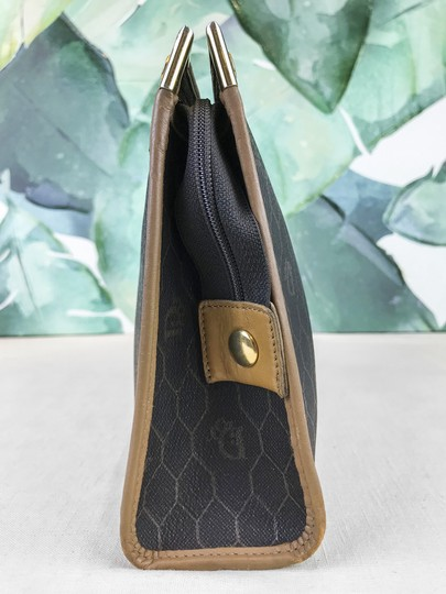Dior Christian Pouch Brown Black Clutch Image 1