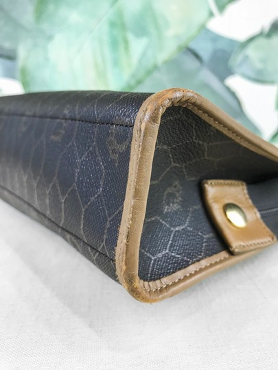 Dior Christian Pouch Brown Black Clutch Image 11