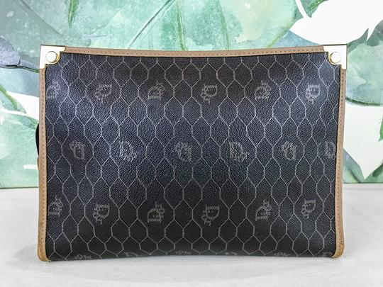 Dior Christian Pouch Brown Black Clutch Image 2