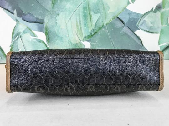 Dior Christian Pouch Brown Black Clutch Image 4