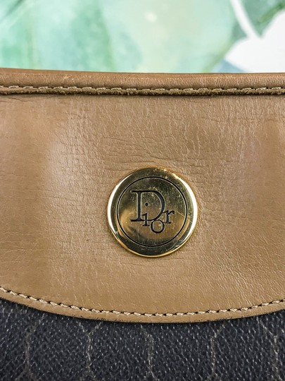 Dior Christian Pouch Brown Black Clutch Image 6