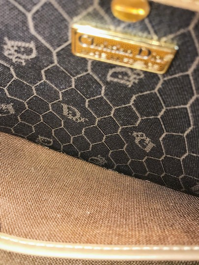Dior Christian Pouch Brown Black Clutch Image 8