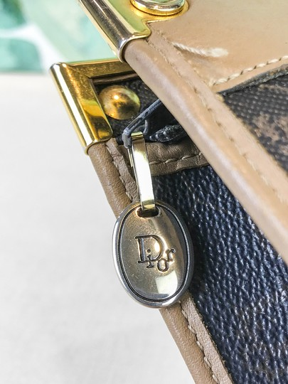 Dior Christian Pouch Brown Black Clutch Image 9
