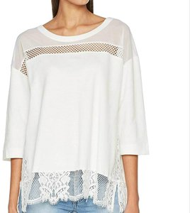 French Connection Sheer Lace Top Summer White
