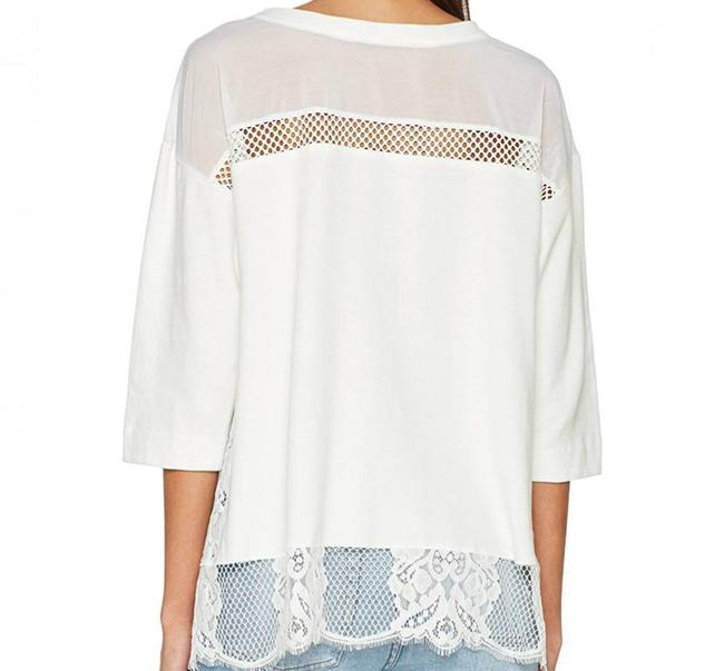 French Connection Sheer Lace Top Summer White Image 1