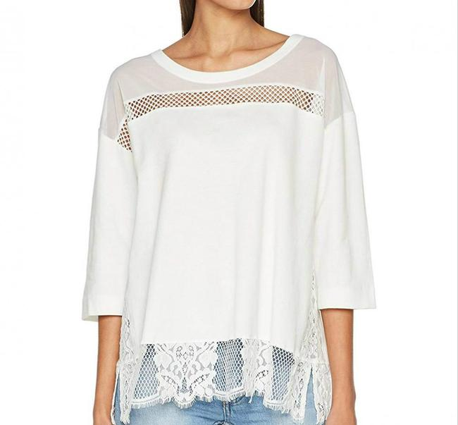 French Connection Sheer Lace Top Summer White Image 2