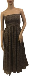 Brown and Turquoise Maxi Dress by Scoop NYC