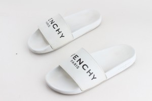 Givenchy White Logo Rubber Sliders Shoes