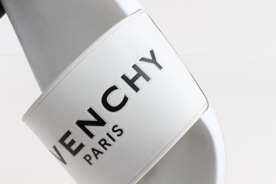 Givenchy White Logo Rubber Sliders Shoes Image 3