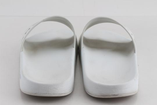 Givenchy White Logo Rubber Sliders Shoes Image 5