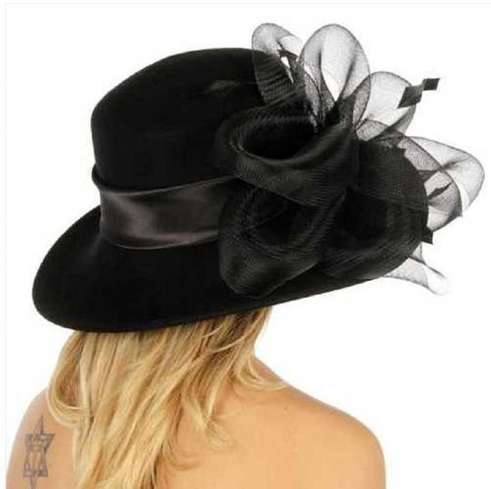 kentucky derby hat New hat with netted feathered bow Formal church Hat Image 1