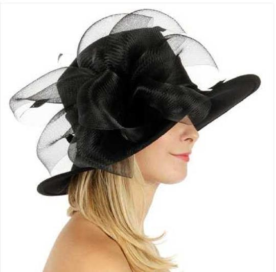 kentucky derby hat New hat with netted feathered bow Formal church Hat Image 2