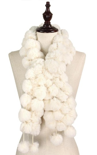 Other New Faux Fur Pom Pom Detail Crossover Scarf Image 2