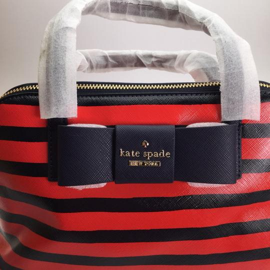 Kate Spade Julia Street Maise Leather Satchel in NAVY/CHERRY Image 7