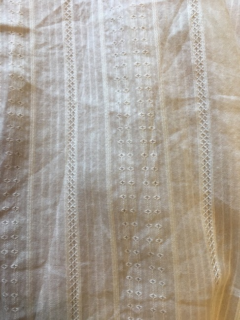 J. Jill Cotton Doubled Buttons Short Sleeve New With Tags Top Ivory Image 5