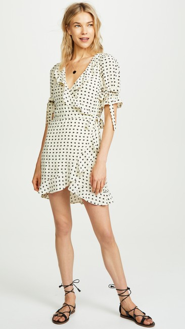 For Love & Lemons short dress white, black Mini Sweetheart Wrapped Heart Prints Resort on Tradesy Image 2