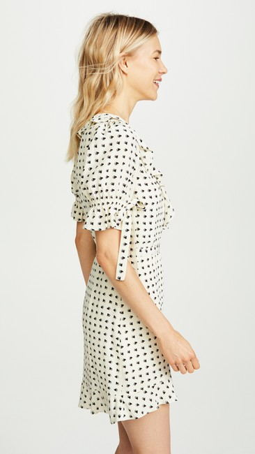 For Love & Lemons short dress white, black Mini Sweetheart Wrapped Heart Prints Resort on Tradesy Image 3