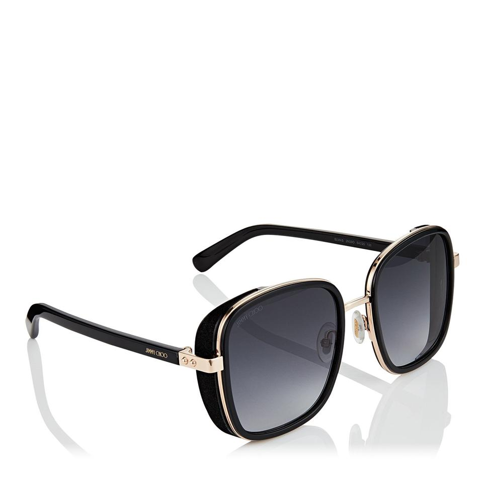 22525cd70fd1 Jimmy Choo Black Elva S Square Oversized Sunglasses - Tradesy