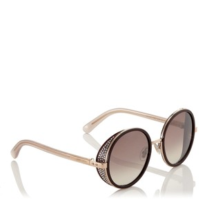 Jimmy Choo NEW Andie/s Round with Crystal Side Shield