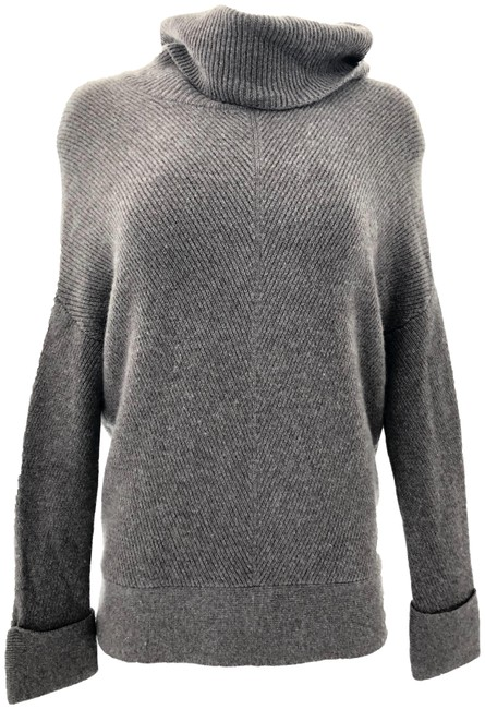 Item - Mock Neck Knit Brown Sweater