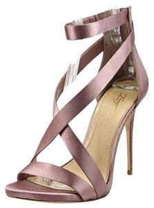 Imagine by Vince Camuto Satin Open Toe Strappy Stiletto pink Formal