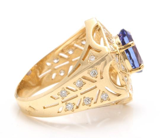 Other 5.35Ct Natural Tanzanite and Diamond 14K Solid Yellow Gold Men's Ring Image 1
