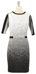 Yoana Baraschi Ombre Brocade Stretch Fitted Dress