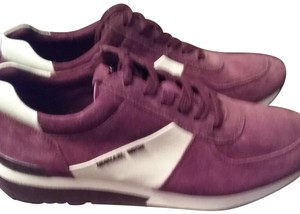Michael Kors Allie Sneaker Suede/Leather Burgundy White Athletic