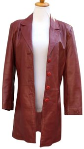 Leather-Sound red Leather Jacket