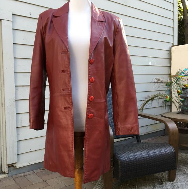 Leather-Sound red Leather Jacket Image 1