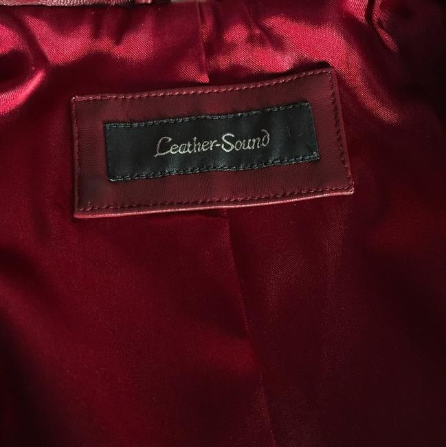 Leather-Sound red Leather Jacket Image 6