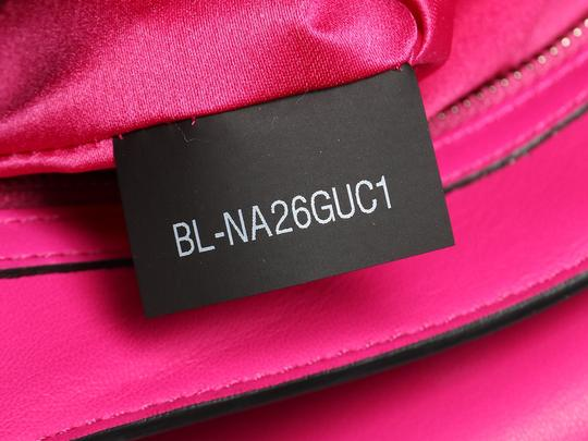 Valentino Vl.p1008.13 Silver Logo Fuchsia Studded Reduced Price Satchel in Pink Image 9