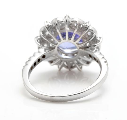 Other 5.20 Carats NATURAL TANZANITE and DIAMOND 14K Solid White Gold Ring Image 3