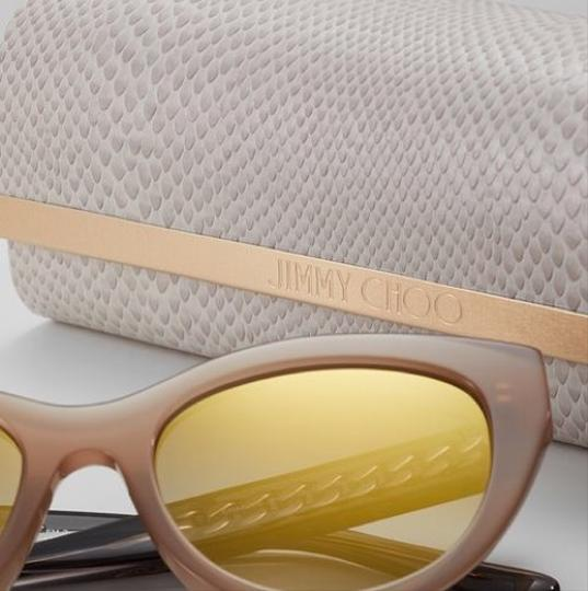 Jimmy Choo Chana/s Cat Eye with Gold Chain Temples Image 2