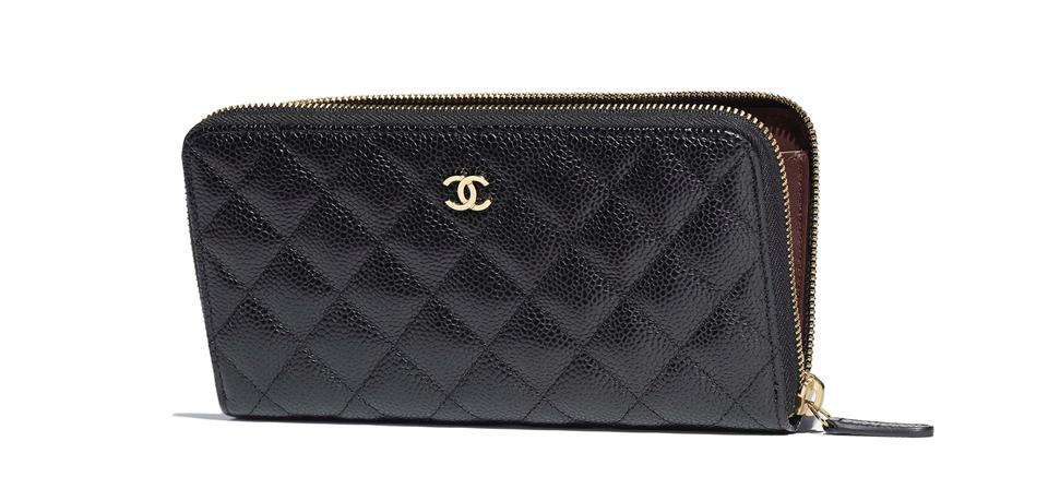 f58c40105f43 Chanel Classic Leather Calfskin Gold Tone Metal Long Wallet Black Clutch  Image 0 ...
