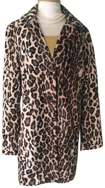 Item - Black Brown Tan Faux Leopard Jacket Size 8 (M)