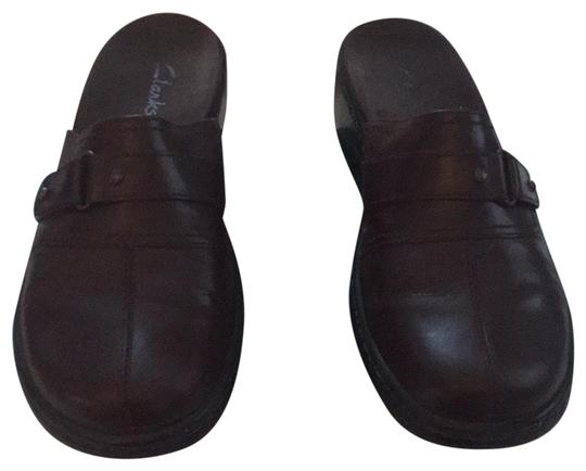 Clarks Brown Mules Image 0